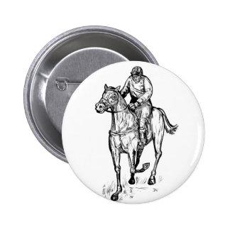 horse racing retro pin