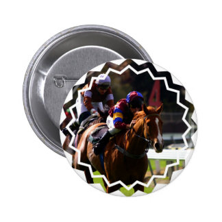 Horse Racing Round Button