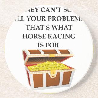 horse racing sandstone coaster