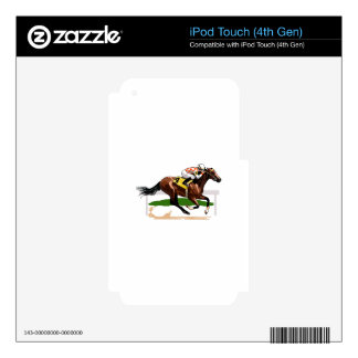 Horse Racing Scene Decals For iPod Touch 4G