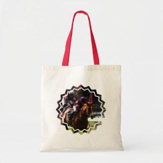 Horse Racing Small Canvas Bag