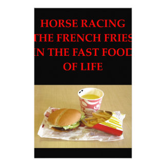 horse racing stationery