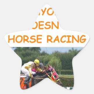 horse racing star sticker