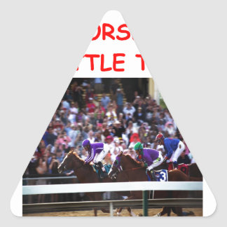 horse racing triangle sticker