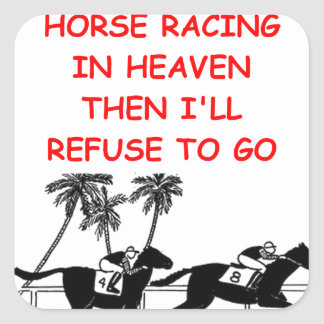 horse racing square sticker