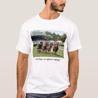Horse Racing T-Shirt with Saratoga Image