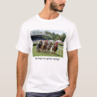 Horse Racing T-Shirt with Saratoga Image
