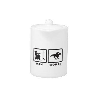 Horse Racing Teapot