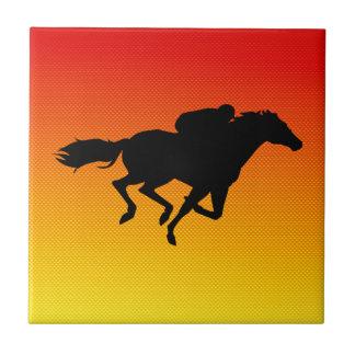 Horse Racing Ceramic Tile