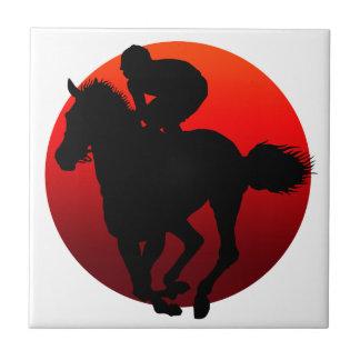 horse racing ceramic tiles
