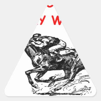 horse racing triangle sticker