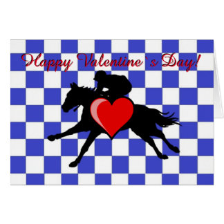 Horse Racing - Valentine`s  card