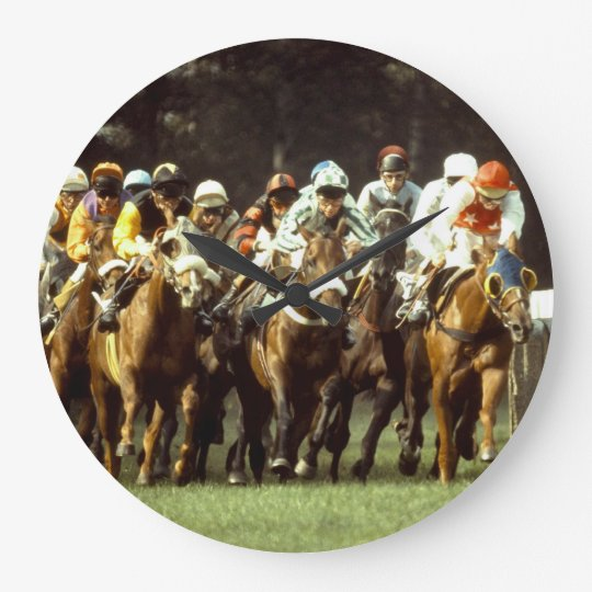 Horse Racing Wall Clock