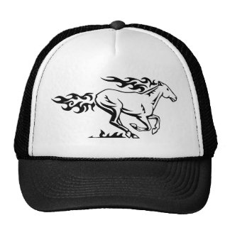 Horse racing with flames hats