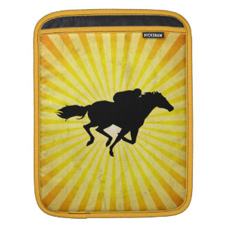 Horse Racing; yellow iPad Sleeve