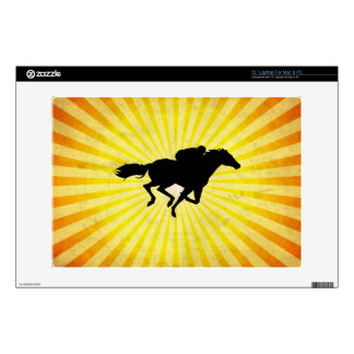 Horse Racing; yellow Laptop Decals