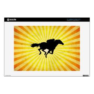 Horse Racing; yellow Laptop Decals