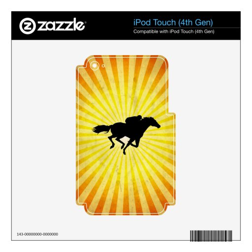 Horse Racing; yellow Skin For iPod Touch 4G