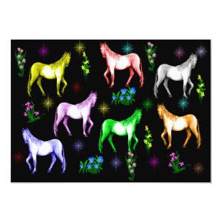 Horse Rainbow Card