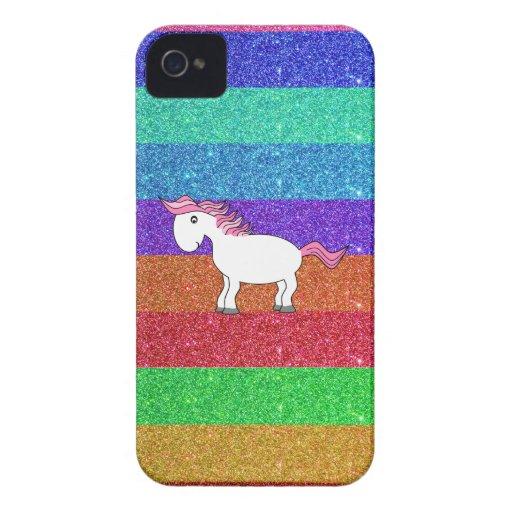 Horse rainbow glitter Case-Mate iPhone 4 case