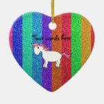 Horse rainbow glitter ornaments
