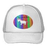 Horse rainbow glitter stripes hat