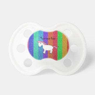 Horse rainbow glitter stripes BooginHead pacifier