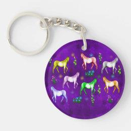Horse Rainbow Keychain