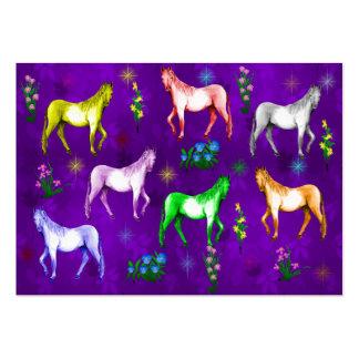 Horse Rainbow Large Business Card