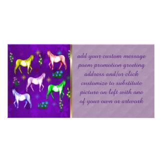 Horse Rainbow Photo Card