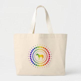 Horse Rainbow Studs Jumbo Tote Bag
