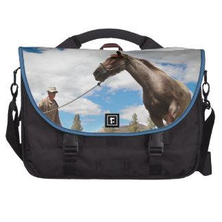 Horse Ranch Farm Destiny Nature Background Bags For Laptop