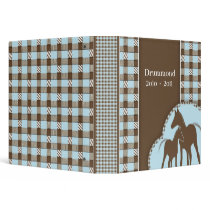 Horse Ranch Memory Photo Album 3 Ring Binder