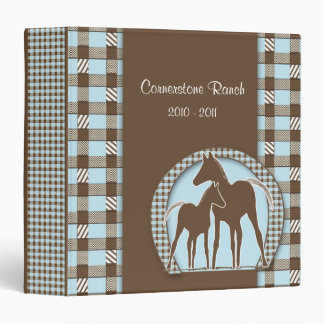 Horse Ranch Memory Photo Album Vinyl Binder