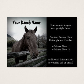 Horse ranch or Farm Supply Business Cards