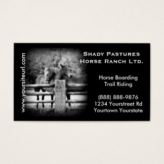 Horse Ranch, Riding Stables or Boarding Business Card