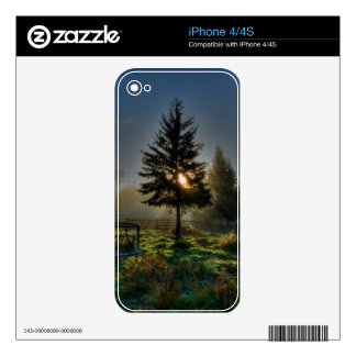 Horse Ranch Sunrise Nature Photo Decals For The iPhone 4S