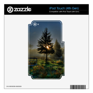 Horse Ranch Sunrise Nature Photo Skin For iPod Touch 4G