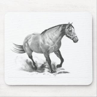 HORSE: REALISM PENCIL ART MOUSE PAD