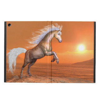 Horse rearing by sunset - 3D render Case For iPad Air