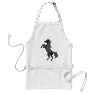 Horse Rearing Facing The Left Adult Apron