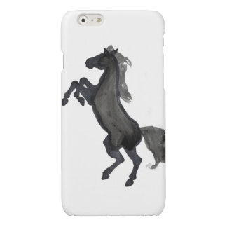 Horse Rearing Facing The Left Glossy iPhone 6 Case