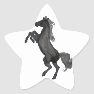Horse Rearing Facing The Left Star Sticker