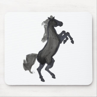 Horse Rearing Facing The Right Mouse Pad