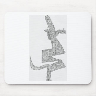 horse rearing mouse pad