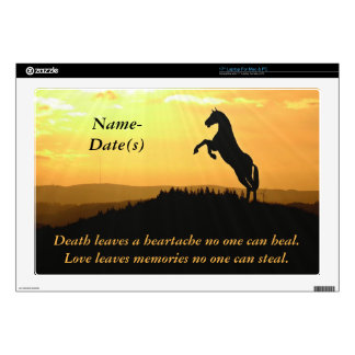 Horse Rearing Silhouette At Sunrise Decal For Laptop
