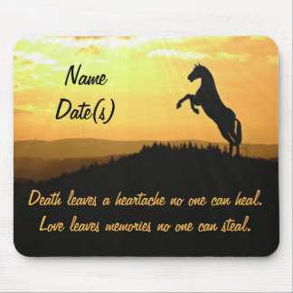 Horse Rearing Silhouette At Sunrise Mouse Pad