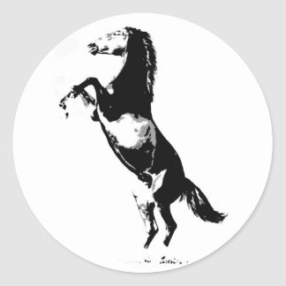 Horse Rearing Round Stickers