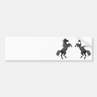 Horse Rearing Up - Mirror Bumper Sticker