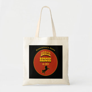 Horse Rescue Any Name Any Date Equine - Tote Bag